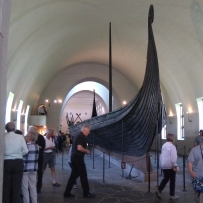 One of the longboats in the Viking Ship Museum